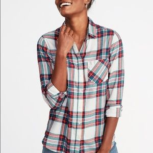 Old navy brushed flannel shirt, plaid
